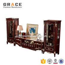 H8801R mdf board tv stand modern design living room furniture cabinet display made in China