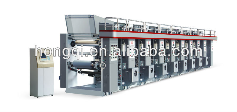 8 color computer high speed gravure printing machine