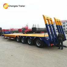 40ft Low Bed Container Truck Semi Trailer Dimensions For Saudi Arabia