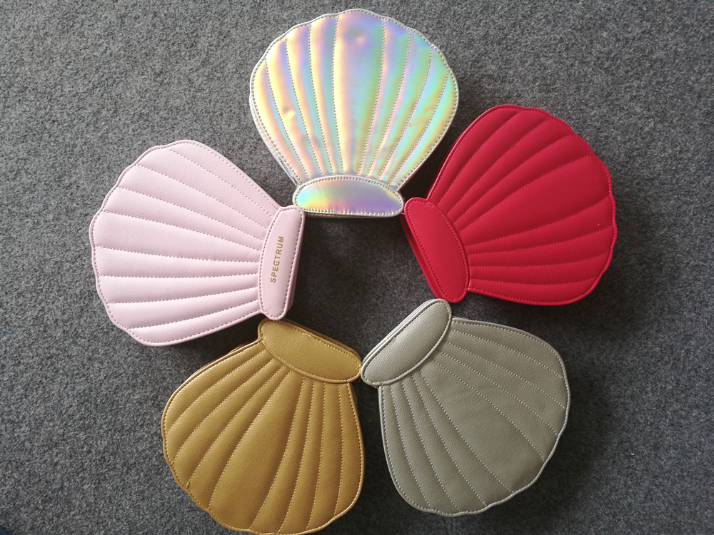 cute shell special makeup case brush set 10pcs