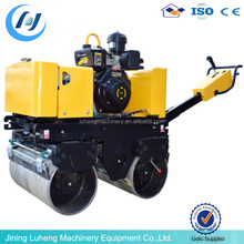 LHH 800kg Walk-behind Vibrating Baby Compactor Roller with double drum