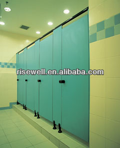 Formica phenolic laminate toilet cubicle partition