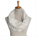 fashion womens gold stamp polka dots scarf