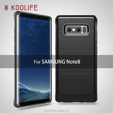 2017 New brushed For Samsung Galaxy Note8 case carbon fiber case cover for Samsung galaxy note 8 tpu cover Kingkong