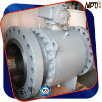 3PC Forged Steel End Entry Trunnion Flange Type Ball Valve
