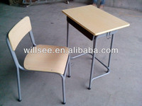 Promotion !!! US$14.50/set(1x40HQ),FOB Ningbo,SF-1006-1,Cheap school student desk and chair set