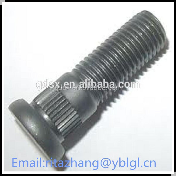 2015 hot sale black zinc plated alloy steel stud bolt standard size,standard bolt OEM in china