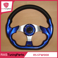 13 Inch MOMO Racing PU Steering Wheel With Horn Line