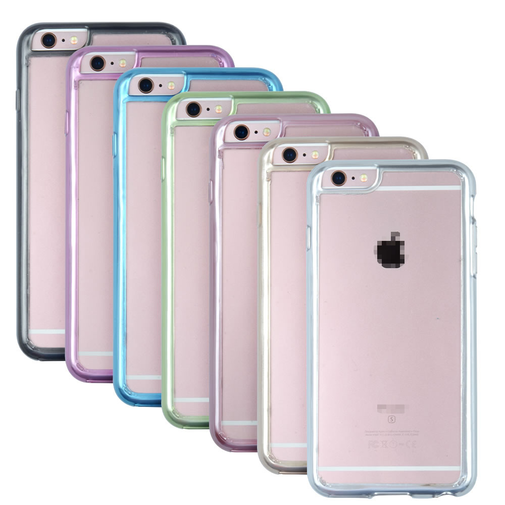 C&T Clear crystal flexible tpu gel bumper and transparent hard pc plastic back slim case cover for iphone 6/ 6 plus