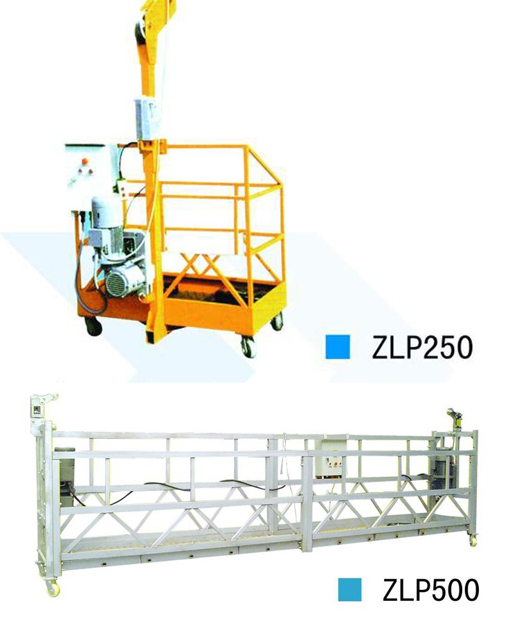 ZLP 630 powered cradle with LTD63 hoist 6m work platform Window Cleaning Suspended Platform