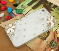Flower Diamond Hard case for iphone5 Hard Diamond Case