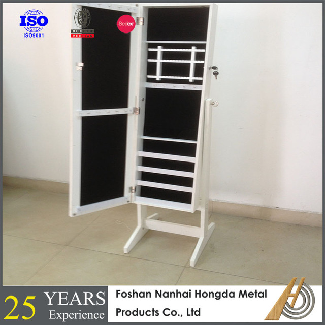 bedroom furniture floor standing mirror jewelry cabinet