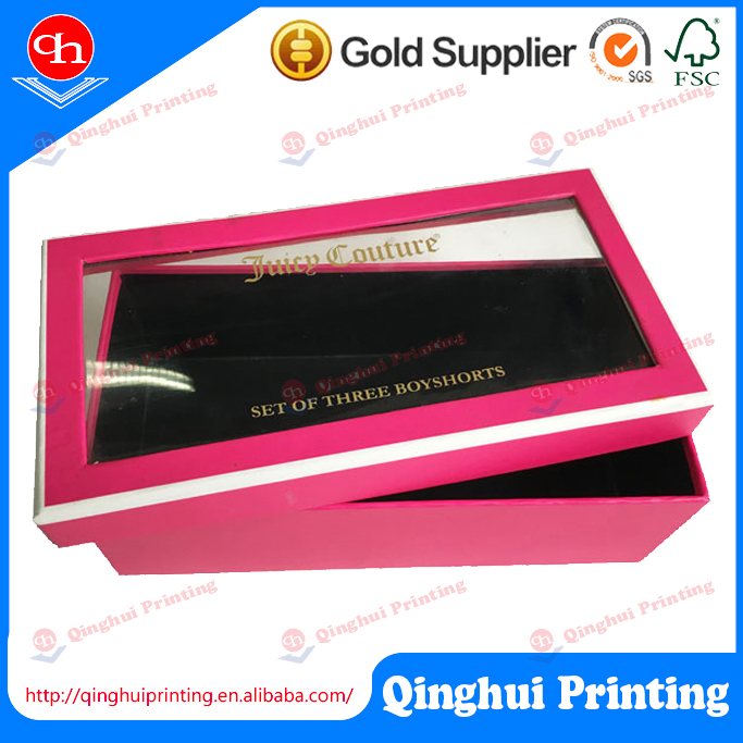 OEM production printed with windows paper box cardboard paper folding box