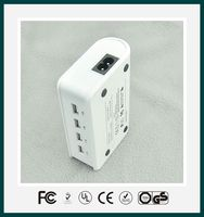 New Intelligent 4 ports usb travel charger for IPhone IPad Mobile phone with UL FCC CE certificates