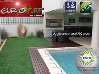 SYNTHETIC ARTIFICIAL GRASS FOR BBQ (or BARBECUE or BARBEQUE) AREA