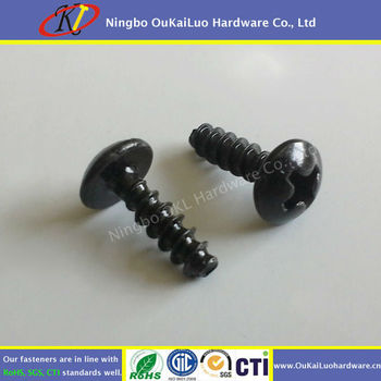 3 x 10mm Truss Head Self Tapping Black Screw
