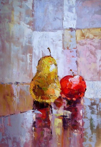 handmade excellent modern still life fruit oil painting on canvas ct-96