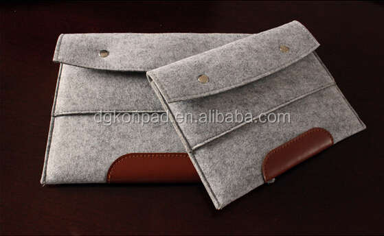 Wholesale 100% wool felt cover case for Apple Macbook 12/iPad pro 12 inch