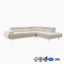 President choice aluminum legs down filled leather sofa