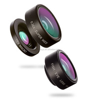 2017 Newest 3 In 1 Optical Glass Lens 0.36X Super Angle Wide 15X Macro 180 Degree Fisheye