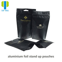 China supplier custom design printing resealable aluminum foil stand up pouches with zipper for food packaging