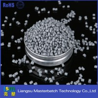 high density polyethylene plastics pellets silver grey masterbatch