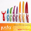8pcs colorful non-stick coating best selling products kitchen knife