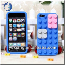 Silicone 3D Toy Brick Phone Case for iPhone5