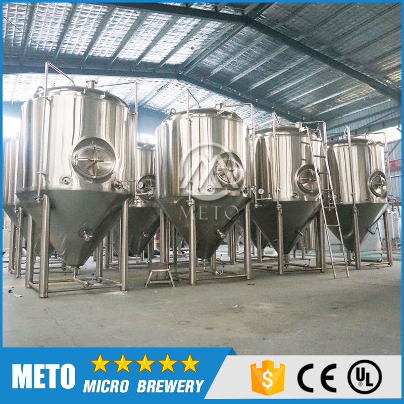 2000L industrial stainless steel glycol jacketed conical fermentation tank beer storage tank for micro brewery