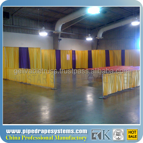 2014 on sale pipes and drapes for mobile phone shop decoration