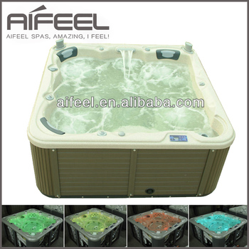 Hot sale Promotion Europe design hotel round massage outdoor spa tub