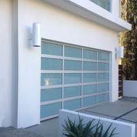 Insulated Aluminum Frosted Glass Side Hinged Garage Doors