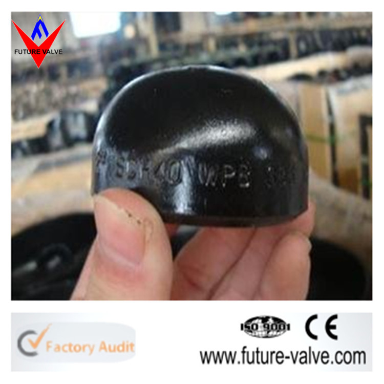 A234 WPB Carbon Steel Butt Welded End Cap For Steel Tube
