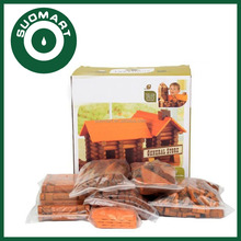165pcs wooden log house toys wooden cabin creative construction toys small toy wooden house for kids