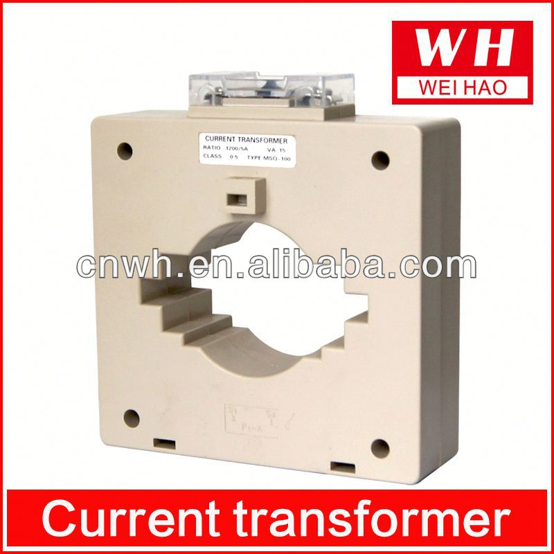 2014 new sales mini precision current transformer MSQ-100 ring type current transformer