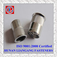 Chinese Made Stainless Steel Reduced Head Knurled Rivet Nut