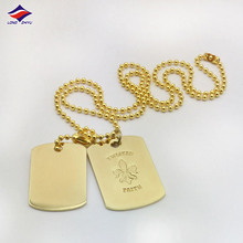 Shiny Plating gold custom your name metal dog tag