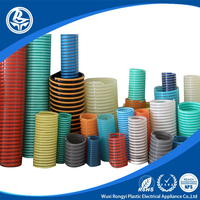 Water vacuum supply Reinforced PVC flexible spiral suction hose