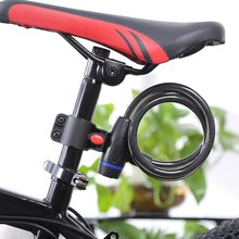 YOUME Universal 100cm x 12mm Bike Lock Anti-Theft Steel Strong Wire Coil Cable Bicycle Motorcycle Security Lock with 2 Keys