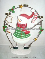 Metal decoration santa claus