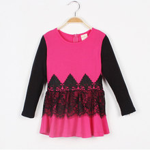 Baby Dresses Girl Winter Lace Trimed Dresses For Girls