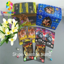 New Design Rhino Sex Pill Packaging 3D Card With Clear Blister / Sex Pill Container /3D Display Box / Card
