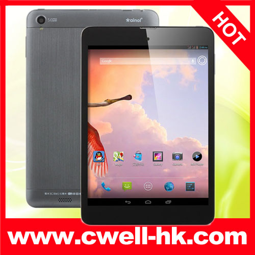 7.85 inch mini pad MT8389 Quad Core Android 4.2.2 OS bluetooth gps wcdma 3g tablet pc Ainol BW1