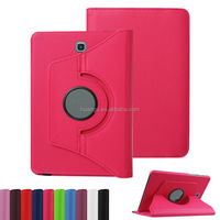 "china mobile phone 360 Degrees Rotating Stand Leather Smart Cover Case for samsung galaxy tab s2 8.0"" case alibaba china"