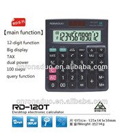check Tax function button battery Calculator & two power calculator & mini calculator MJ-120T