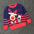 Europe and America deer baby boys pullover jumpers child sweater christmas knit pattern wholesaler