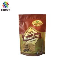 Self standing Laminated food grade aluminum plastic food packaging bags for chips/snacks/popcorn