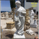 Outdoor home & garden decor stone sculpture New product Lifelike life size marble woman Holding flower statue