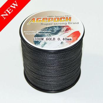 4 6 8braid pe black 300m 60lb 100 2000m 10 100lb braid for Black fishing line