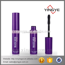 Cylinder cosmetic plastic eyelash container